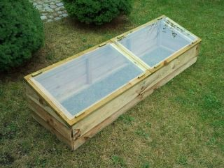 1.7m (5ft 7in) Wooden Cold Frame Greenhouse by Zest 4 Leisure®