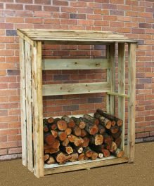 1.5m (4ft 11in) Wooden Log Store by Zest 4 Leisure®