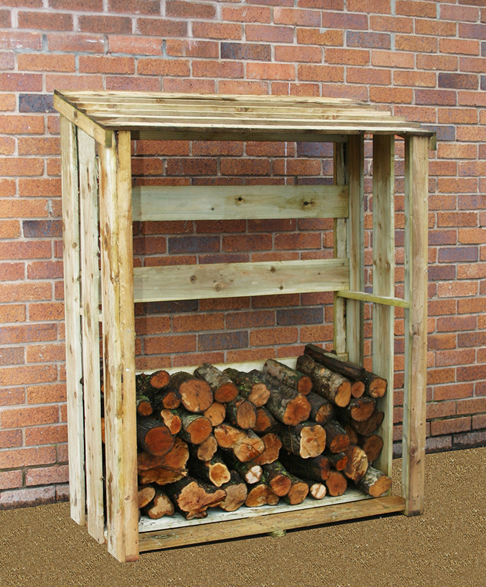Zest 4 Leisure 1.5m (4ft 11in) Wooden Log Store