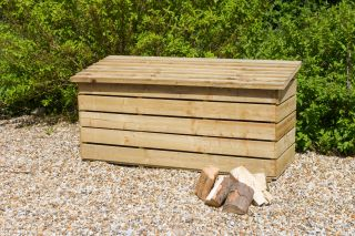 1.8m (5ft 10in) Wooden Log Chest FSC® by Zest 4 Leisure®