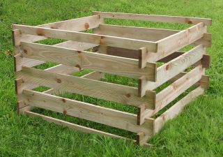 Zest 4 Leisure 1m (3ft 3in) Wooden Compost Bin