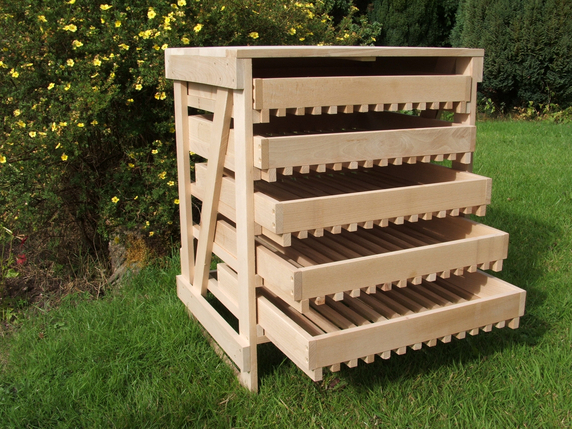 Beech Apple Storage Rack - 5 Drawer H70cm x W58cm x D47cm