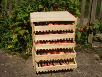 Pine Apple Storage Rack - 5 Drawer H70cm x W58cm x D47cm