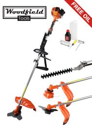 Woodfield™ 52cc 3 in 1 Multi-Tool - Brush Cutter, Hedge Trimmer and Strimmer