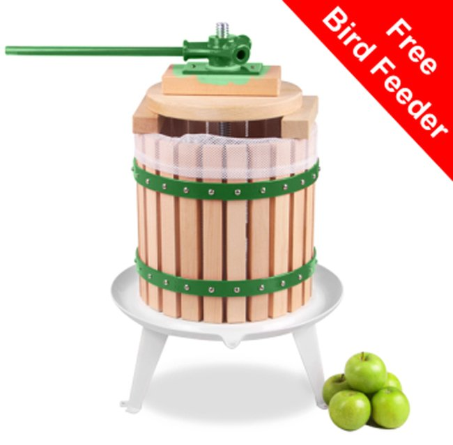 Apple Press for Fruit/Cider/Wine - 12L - 3 Year Guarantee by Lacewing™