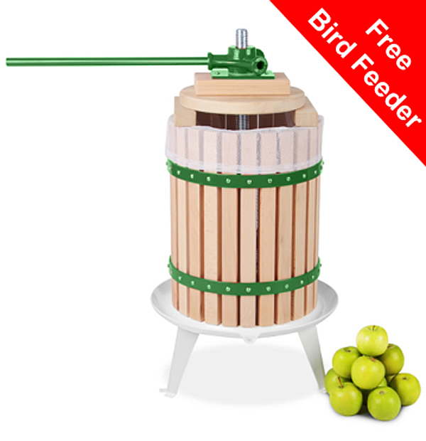 Apple Press for Fruit/Cider/Wine - 18L - 3 Year Guarantee by Lacewing™