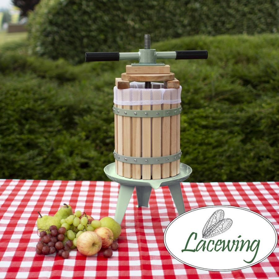 6L Double Handled Apple/Fruit/Juice/Cider/Wine Press Free Pulp Bags 3 Year Warranty Easy Press™