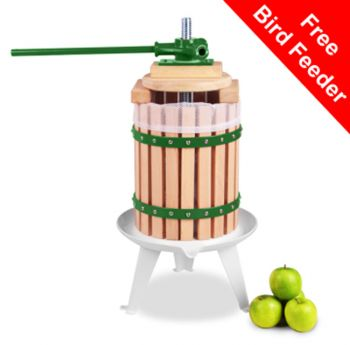 Apple Press for Fruit/Cider/Wine - 6L - 3 Year Guarantee by Lacewing™