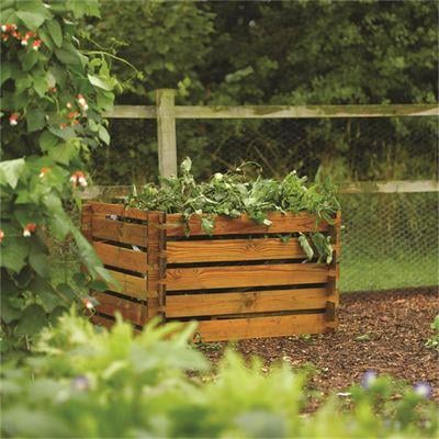 1m (3ft 3in) 600L Affordable Wooden Composter by Rowlinson®