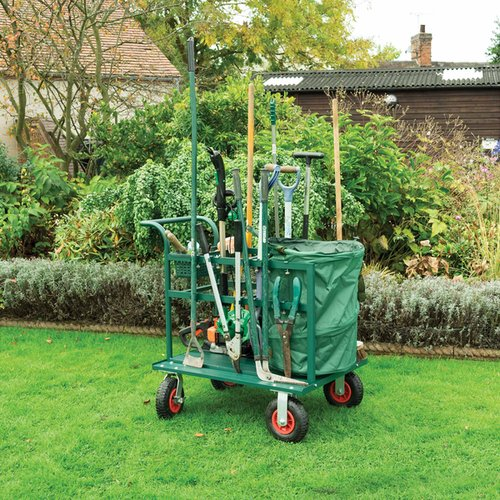 H94cm (37in) Garden Tool Trug Trolley by Rowlinson®