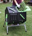 Tumbling Composter with 70L Dual Chambers