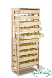 10 Drawer Space Saving Wooden Apple Storage Rack H156cm x W60cm x D33cm by Lacewing™