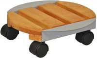 Premium Wooden Garden Plant Pot Mover/Trolley
