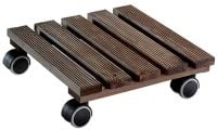 Dark Wood Indoor Plant Pot Mover/Trolley - 28cm (11in)