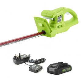 Greenworks 24V Deluxe Hedge Trimmer with 2Ah Battery and Charger