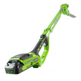 Greenworks 24V Long Reach Hedge Trimmer with 2Ah Battery & Charger