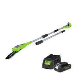 Greenworks 20cm (8in) 24V Polesaw with 2Ah Battery & Charger