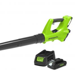 Greenworks 24V Blower with 2Ah Battery and Charger