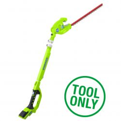 Greenworks 24V Long Reach Hedge Trimmer (Tool Only)
