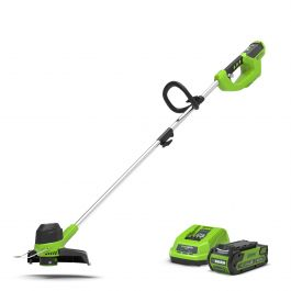 Greenworks 40V Front Mount Trimmer with 2Ah Battery & Charger