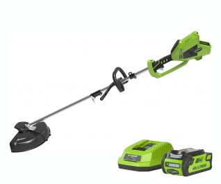 Greenworks 40V Brushless Top Mount 2in1 Trimmer with 2Ah Battery & Charger
