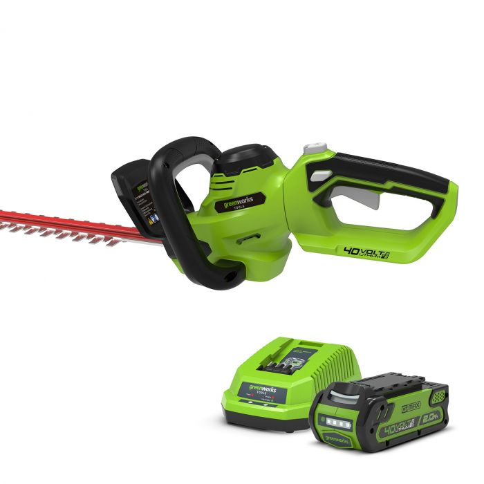 Greenworks G40HT61K2 40v Hedge Trimmer With 2ah Battery & Charger