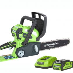 Greenworks 30cm (12in) 40V Chainsaw with 2Ah Battery & Charger
