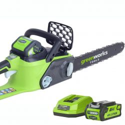 Greenworks 40cm (16in) 40V Brushless Chainsaw with 2Ah Battery & Charger