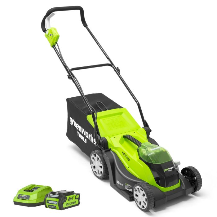 Greenworks 40V 35cm Mower with 2Ah Battery & Charger