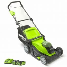 Greenworks 40V 41cm Mower with 2 x 2Ah Batteries & Charger