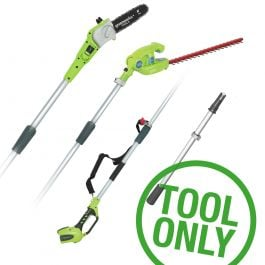 Greenworks G40PSH 40V Long Reach Hedge Trimmer & Pruner (Bare Tool)