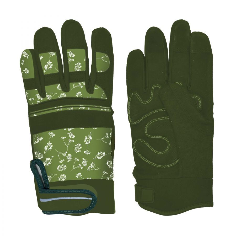 PU Leather Warm Lined Gardening Glove - Large
