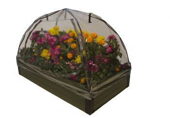 274 Litres - Dual Season Raised Bed Kit Green 1.4m x 0.7m (H28cm)