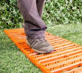 Instant Garden Roll Out Path Terracotta - Chevron - 3 Metres - Double Width