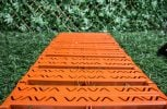 Instant Garden Roll Out Path Terracotta - Plastic - Chevron - 3 Metres - Single Width