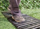 Instant Garden Roll Out Path Black  - Plastic - Chevron - 3 Metres - Single Width