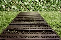 Instant Garden Roll Out Path Black - Chevron - 3 Metres - Single Width