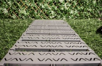 Instant Garden Roll Out Path Grey - Chevron - 3 Metres - Single Width
