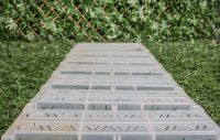 Instant Garden Roll Out Path Clear - Chevron - 3 Metres - Double Width