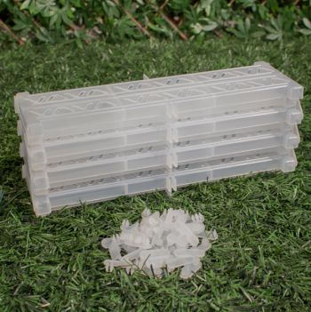 Instant Garden Roll Out Path Clear  - Plastic - Chevron - 3 Metres - Single Width