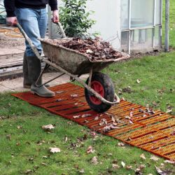 Instant Garden Roll Out Path Terracotta - Plastic - Chevron - 3 Metres - Double Width