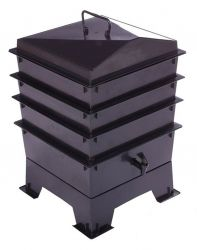 3 Tray Deluxe Tiger Wormery in Black (46.5L)