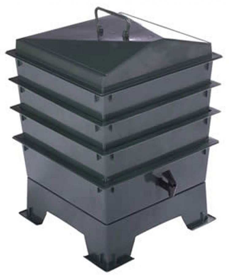 3 Tray Deluxe Tiger Wormery in Green (46.5L)