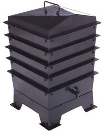 4 Tray Deluxe Tiger Wormery in Black (62L)