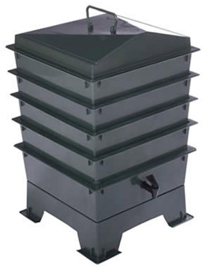 4 Tray Deluxe Tiger Wormery in Green (62L)