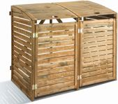 Wooden Wheelie Bin Storage Cover for two bins- H 1.25m W 1.50m