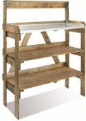 4ft Double-shelf Potting Table