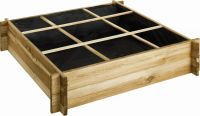 Overlap Raised Planting Bed 9 Square - H 24cm W 1.04m D 1.04m