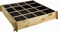 Overlap Raised Planting Bed 16 Square - H 24cm W 1.34m D 1.34m