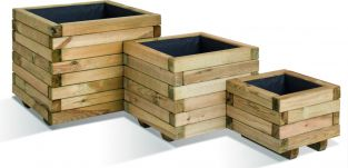 Square Planters - Mixed Set of 3 - 9/28/65L
